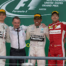 2015 US F1 GP podium: 1. Hamilton 2. Rosberg 3. Vettel