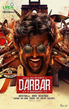 Poster Of Free Download Darbar 2020 300MB Full Movie Hindi Dubbed 720P Bluray HD HEVC Small Size Pc Movie Only At worldfree4u.com