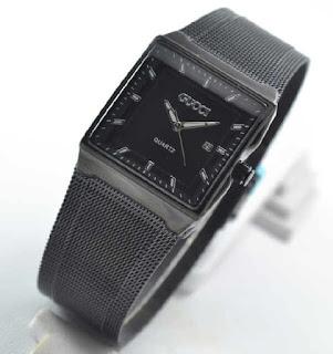jam tangan Gucci date sandchain full black