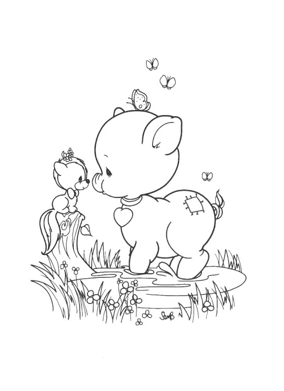 precious moments coloring pages cow - photo#23