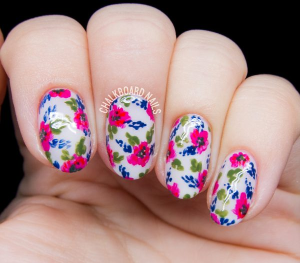 TOP 35 FLOWER NAIL DESIGNS FOR 2018 - Hairstyles 19