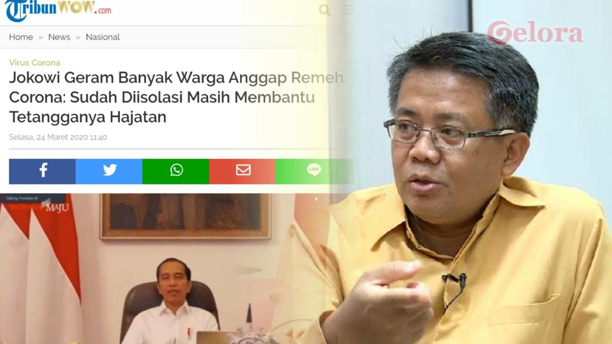Sama Dong, Rakyat Juga Geram di Awal-awal Kabinet Jokowi Anggap Enteng Corona