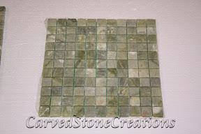 1x1, Flooring, Flooring & Mosaics, Green, Interior, Mosaic, Natural, Stone, Tile, Tumbled, Veggie