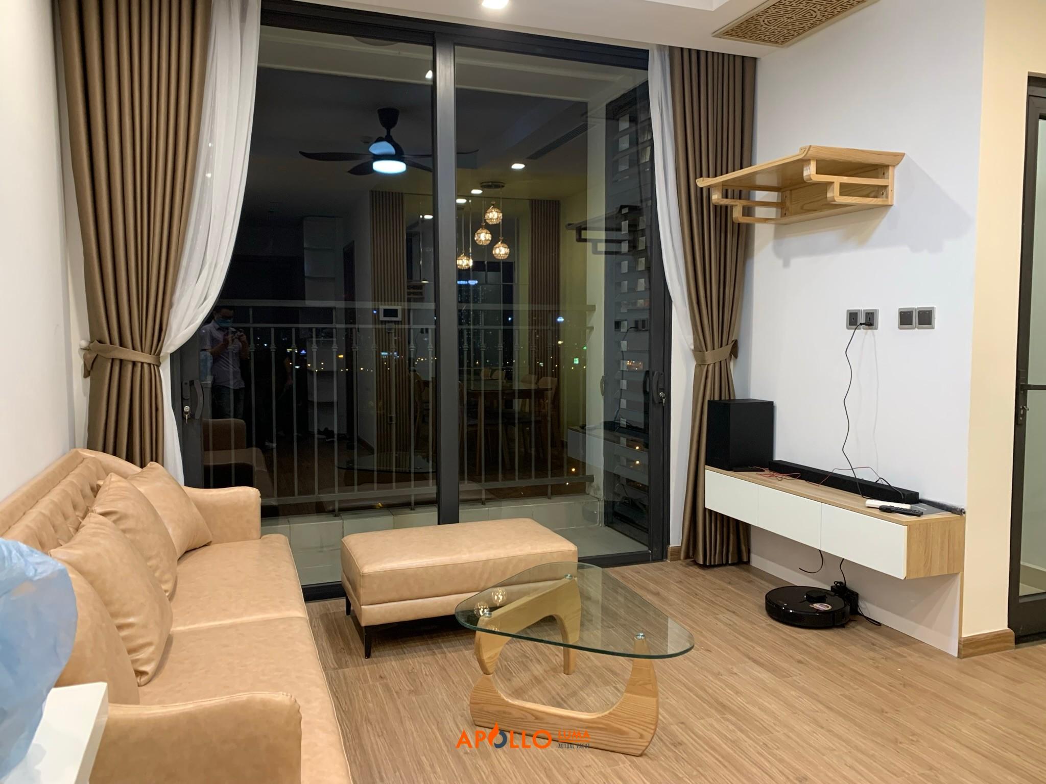 oàn thiện bàn giao căn hộ 2 phòng ngủ Vinhomes Green Bay