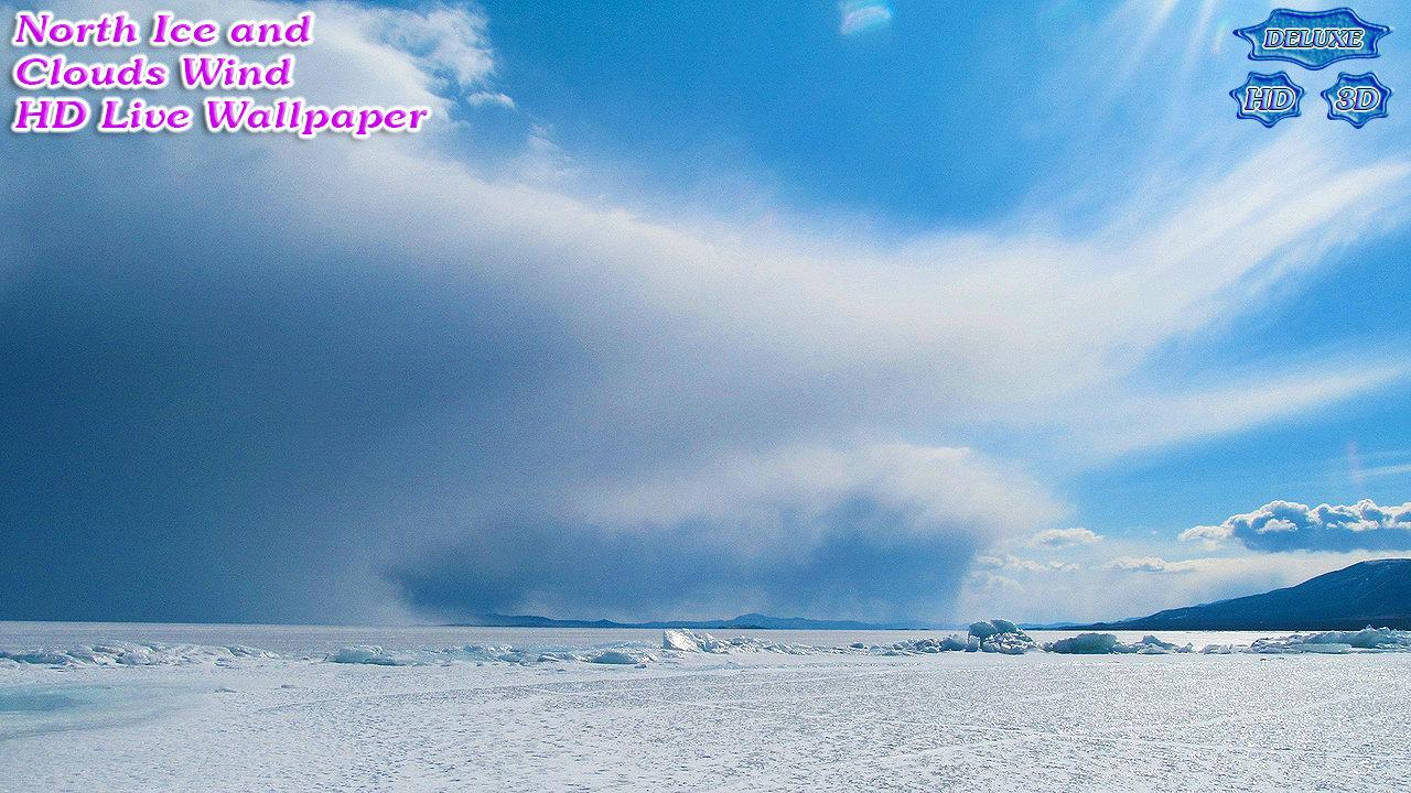 Wild North Icy Desert and Clouds Wind- screenshot