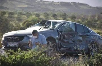 Turkish Man Prays After He Escaped An Accident