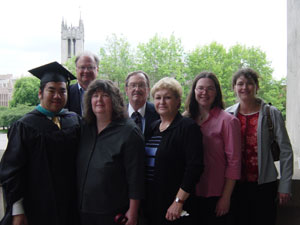 Photo of my family overlooking the UW campus at Graduation on June 9, 2006. Photo courtesy of Nick Peyton.