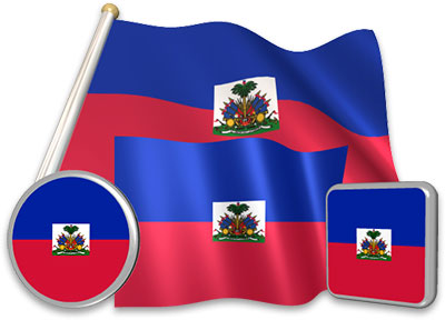Haitian flag animated gif collection