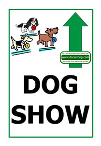 Dog show A4 Up arrow sign