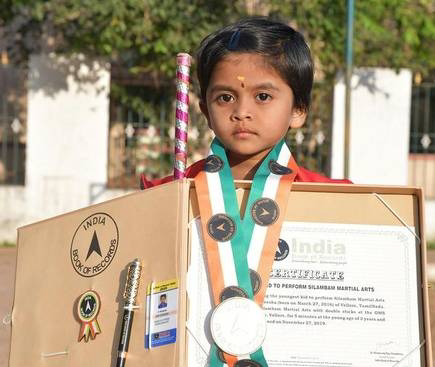 Young Silambam artiste does Vellore proud