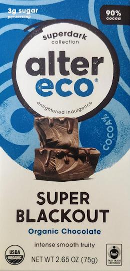 Alter Eco, dark chocolate bar, review