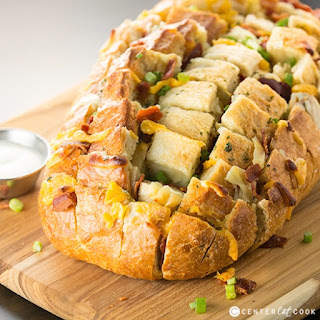Bacon, Cheese and Ranch Pull Apart Bread Recipe