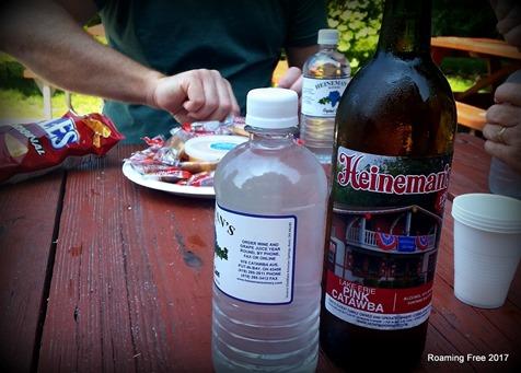 Snacks at Heineman'sWinery