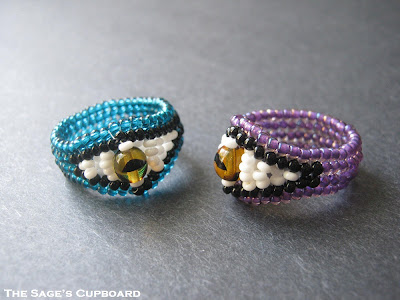 Eye of the Beholder Beaded Ring Set