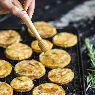 Fried Eggplant with Honey and Rosemary.