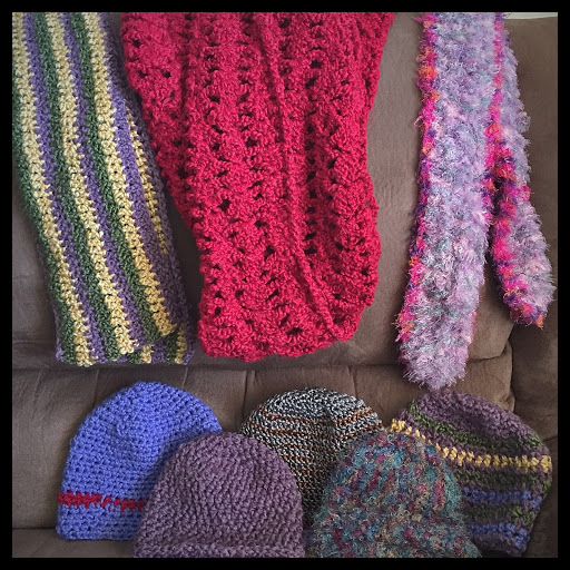 Scarf and hat donations