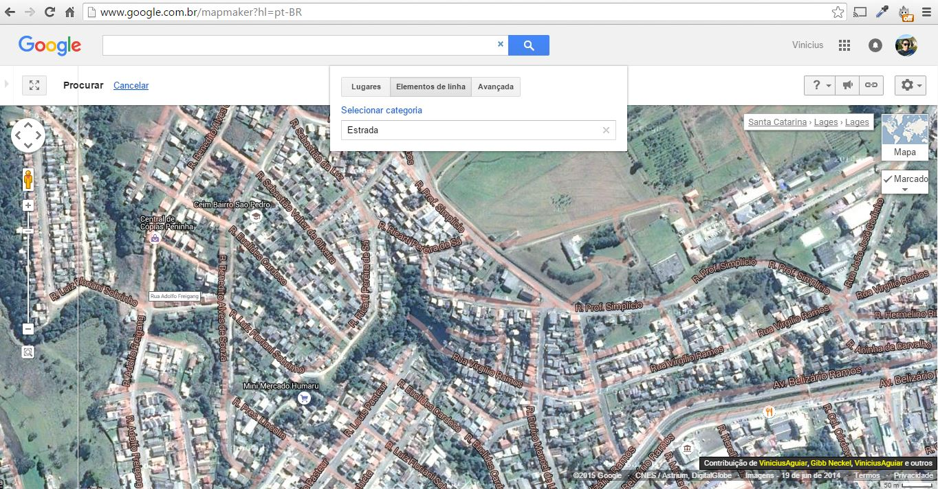 Mapa Desalinhado Lages Santa Catarina Google Product Forums - Lages map