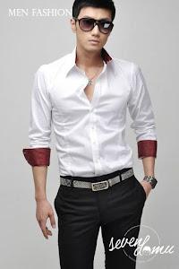 seven domu kemeja putih korea style sk10