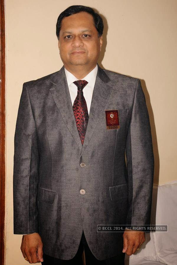 Dr Vinay Tule during Rotary Club Fort's installation ceremony, held at Heritage Hotel, in Nagpur.