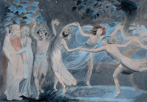 Oberon Titania And Puck With Fairies Dancing 1786 By William Blake, William Blake