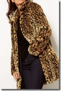 Per Una Leopard Print Faux Fur Coat