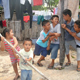 Zuemy, Benjamín, Israél, José Luís, Manuel, and Diego - great kids having some fun in the backyard of the outreach sight (their family's home)