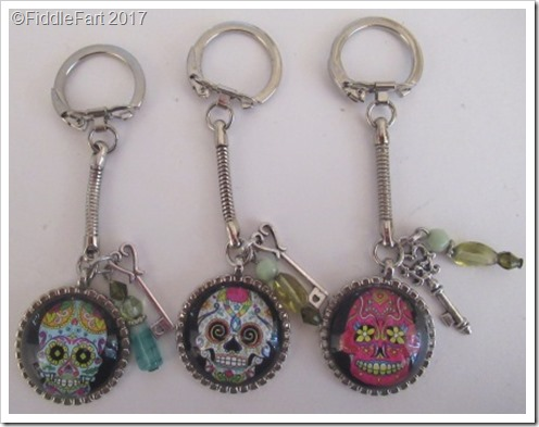 Day of The Dead Skull Keyrings