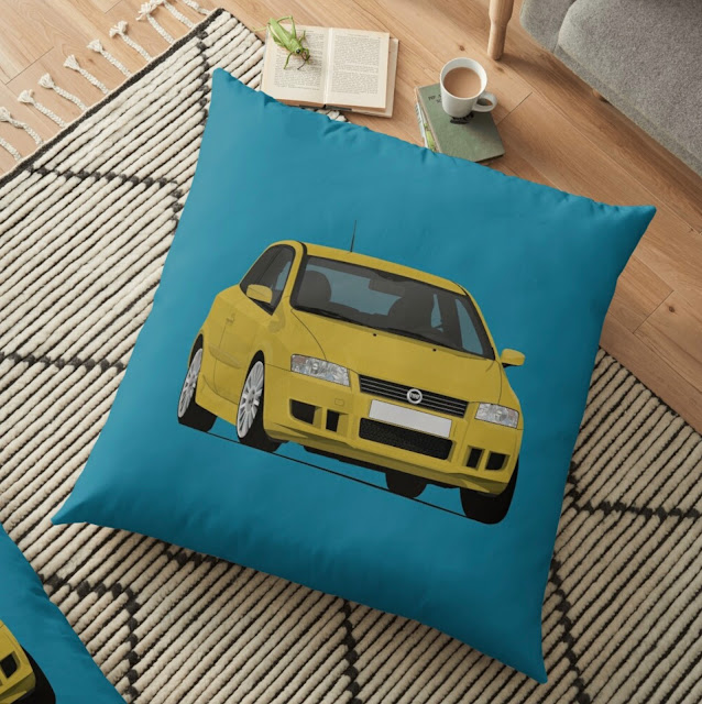 Fiat Stilo pillow