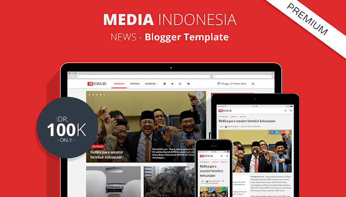Media Indonesia - Responsive SEO HTML5 Blogger Template