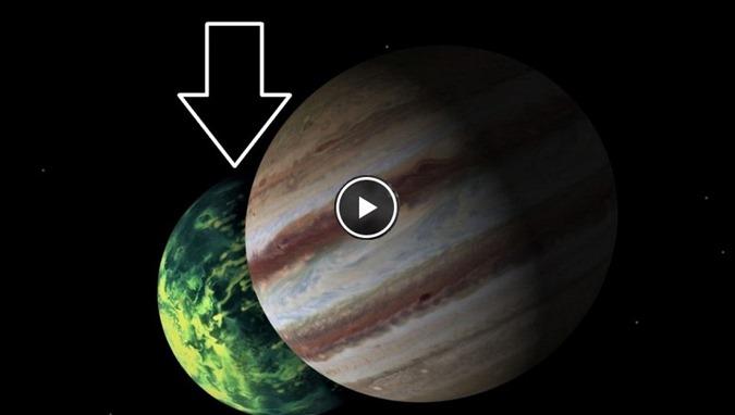 Algo enorme foi capturado viajando atrás de Júpiter