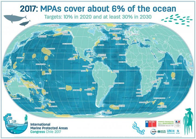 Map showing the World Database on Marine Protected Areas. Graphic: IUCN