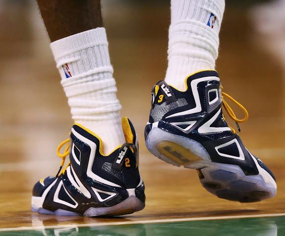 LeBron James Nike 12 Elite Navy blue-tinted Pictures 01-4-24-2015