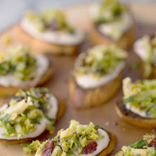 Brussels Sprouts Crostini.
