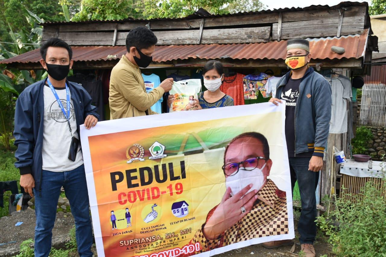 Supriansa Peduli Kembali Salurkan Bantuan Kepada Warga Terdampak Pandemi Covid 19