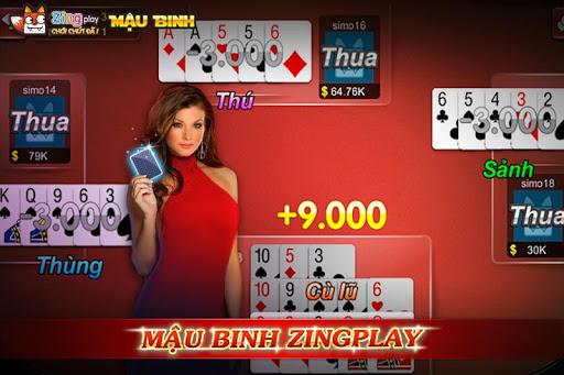 Poker VN - Mậu Binh – Binh Xập Xám - ZingPlay androidiapk screenshots 1