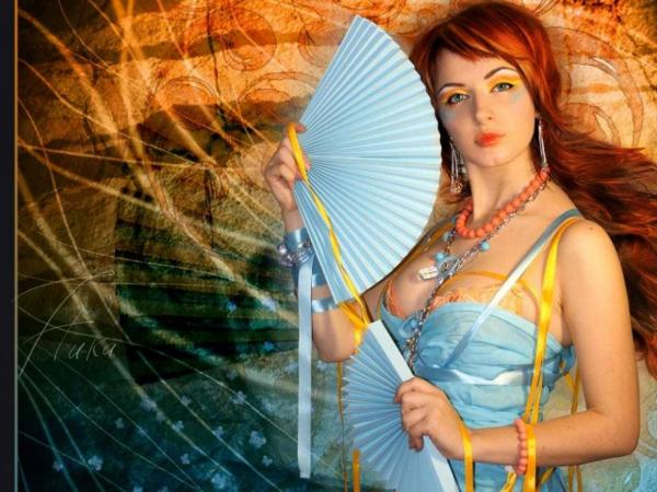 Girl With A Fan, Magic Beauties 3