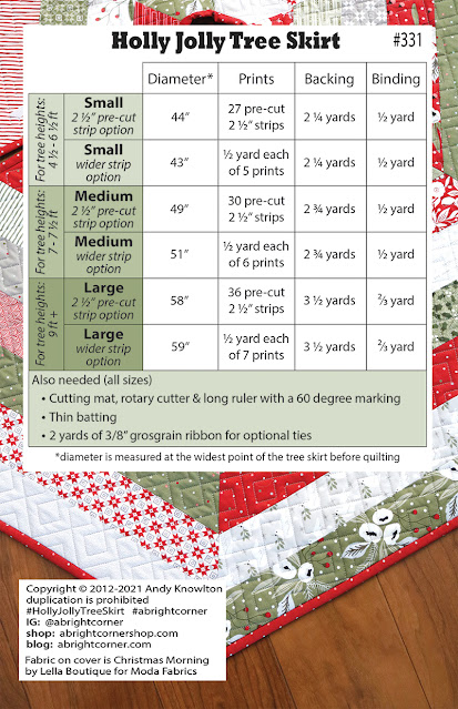Holly Jolly Tree Skirt pattern by A Bright Corner