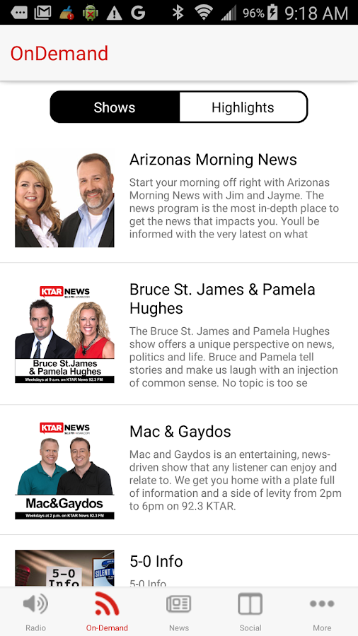 KTAR News 92.3 FM- screenshot