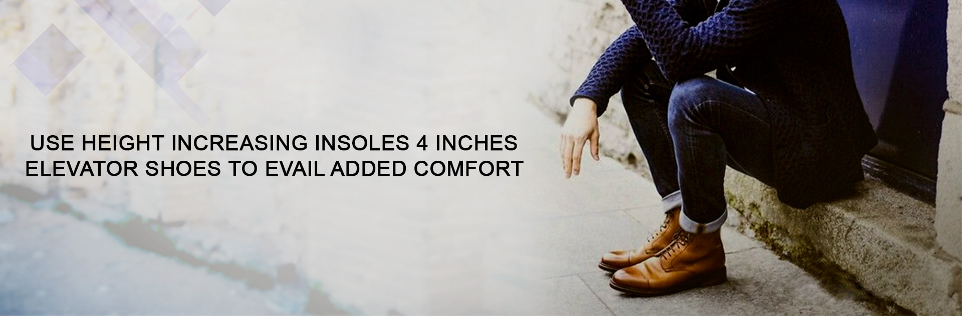 Use height increasing insoles 4 inches elevator shoes to avail added comfort