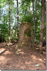 Unmarked house ruins - fireplace 1