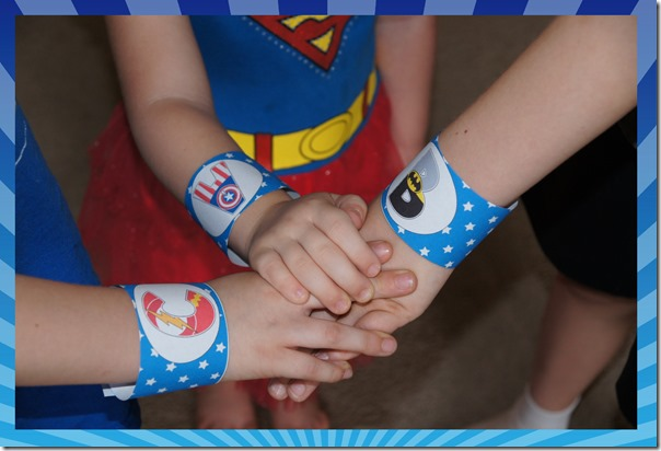 free printable alphabet cuffs for preschool super hero