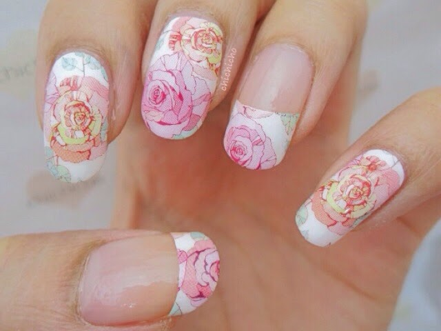 Large Roses Nail Wrap - chichicho~