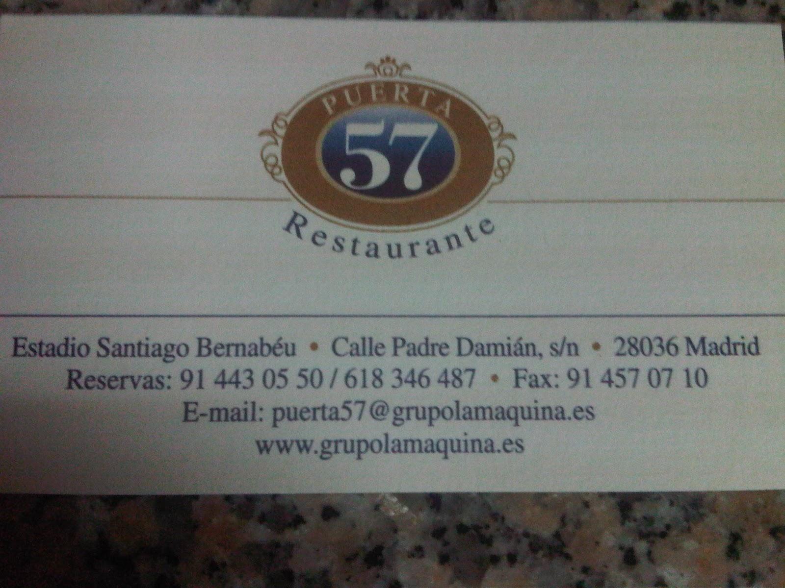 Ok varius puerta 57 e onde est a porta 10a for Puerta 57 restaurante