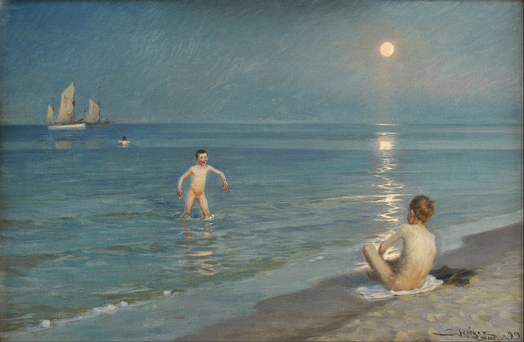 Peder Severin Krøyer - Boys Bathing at Skagen. Summer Evening - Google Art Project.