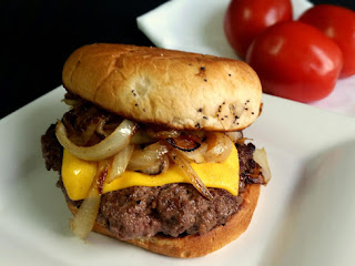Grilled Onion Cheeseburgers! Recipe