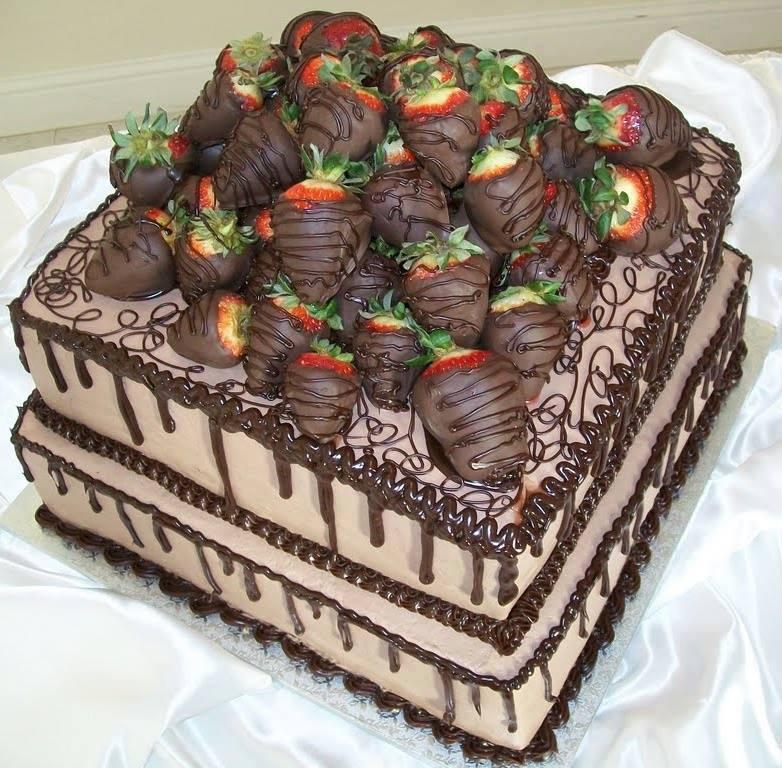 Chocolate Covered Strawberry Birthday Cakes