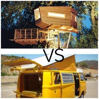 Rumah pohon dan rumah mobil