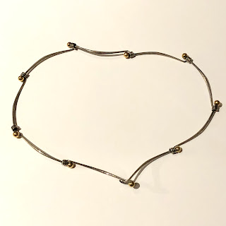 14K Gold and Sterling Silver Necklace