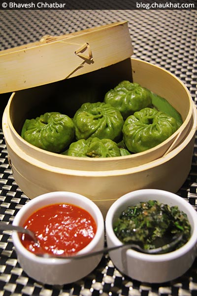 Mix Veg Coriander Dimsums at SocialClinic Restobar in Koregaon Park area of Pune