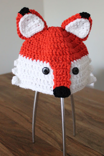 Not 2 late to craft: Barret de guineu de ganxet / Fox crochet hat
